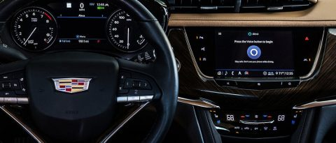 Integrated Cadillac dashboard