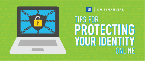 Laptop with a locked screen - Tips for protecting your identity online by GM Financial