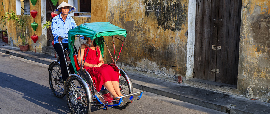 Woman in a cyclo