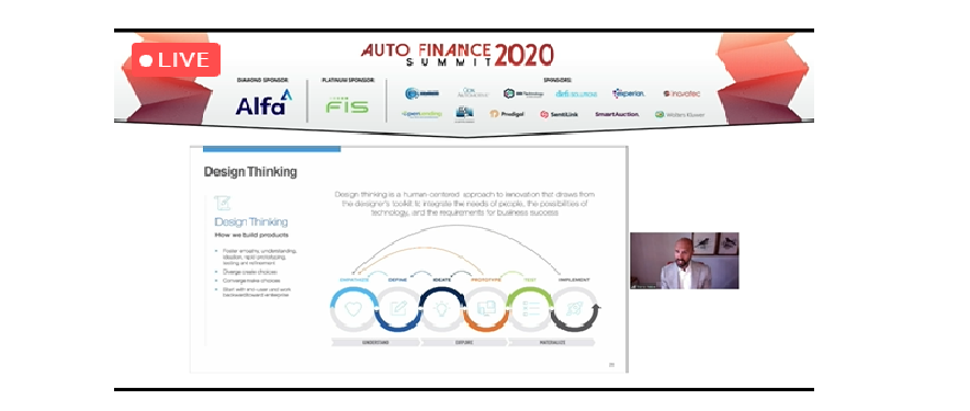 Bruno Paiva speaking virtually at Auto Finance Summit